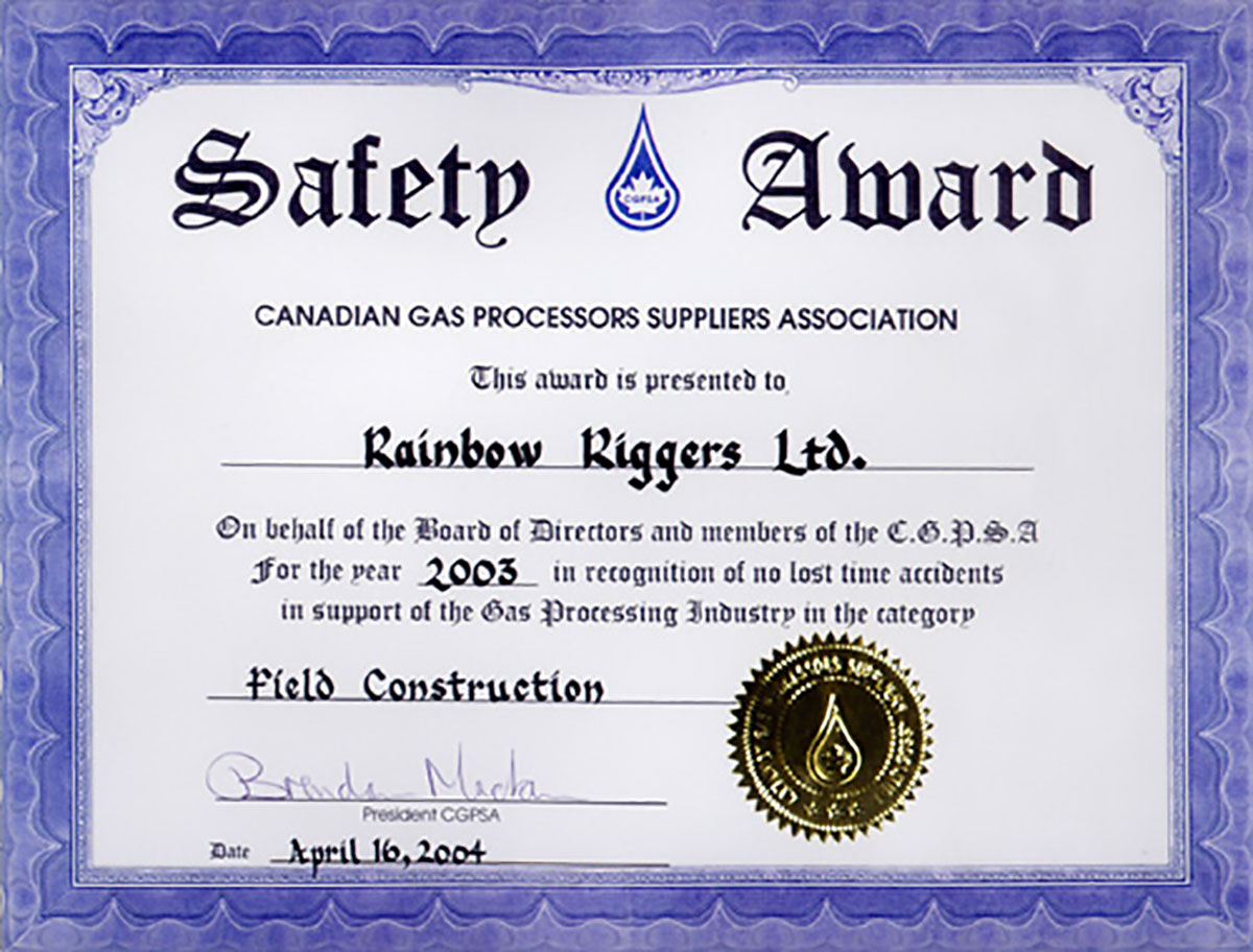 Rainbow riggers safety certifications awards memberships 1betcityfo Images